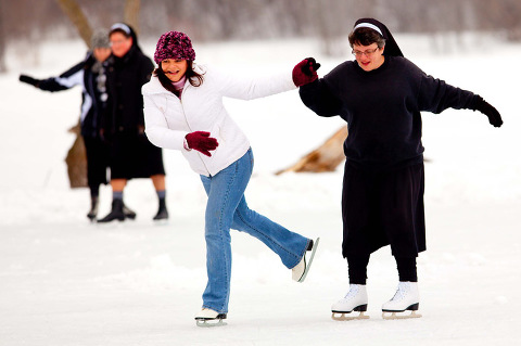Ice Skating Nuns Green Bay Photographer 0