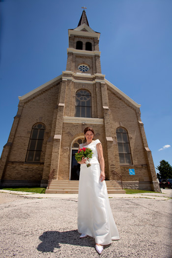Judy infront of the St Anna church.