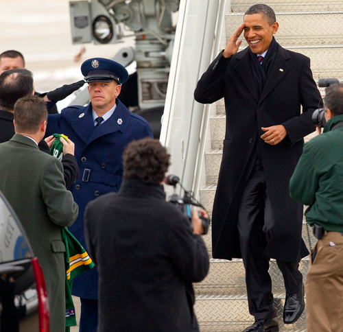 Wisconsin Governor Scott Walker President Barack Obama