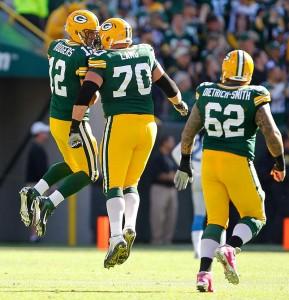 Aaron Rodgers touchdown celebration