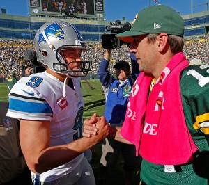 NFL quarterbacks shake hands