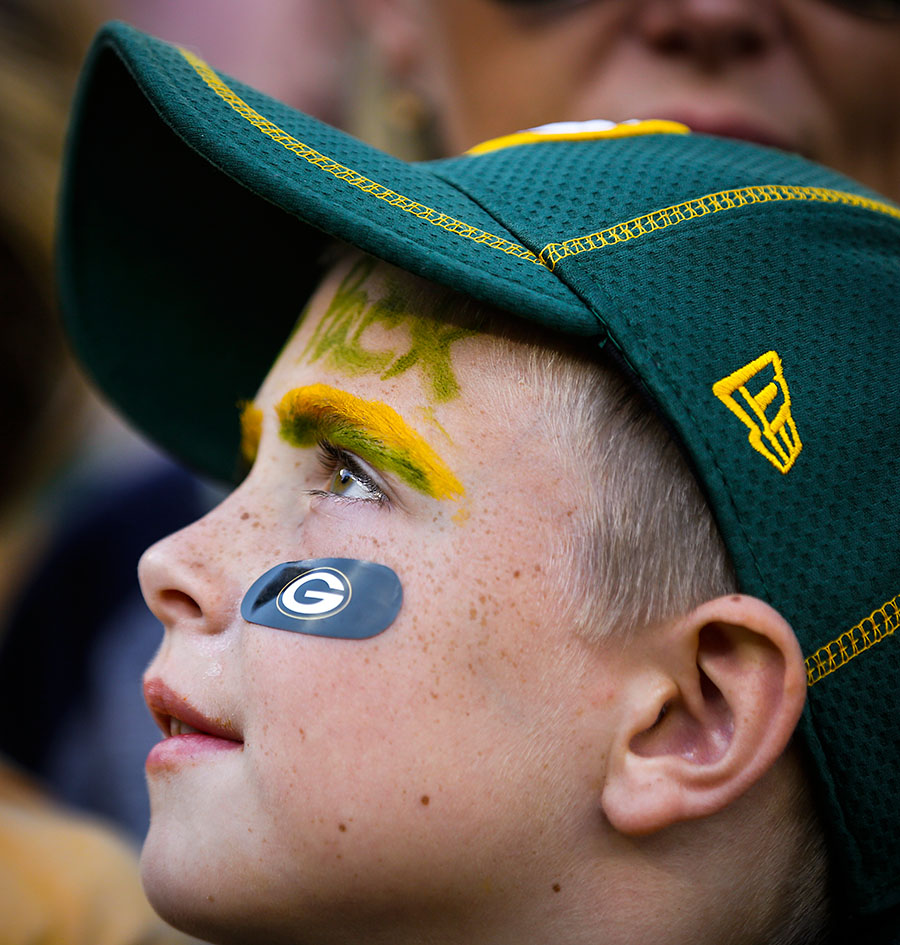 A young Green Bay Packers fan.