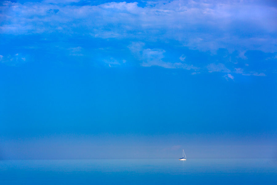 Sailing on Lake Michigan near Manitowoc, Wisconsin. Photo by Mike Roemer
