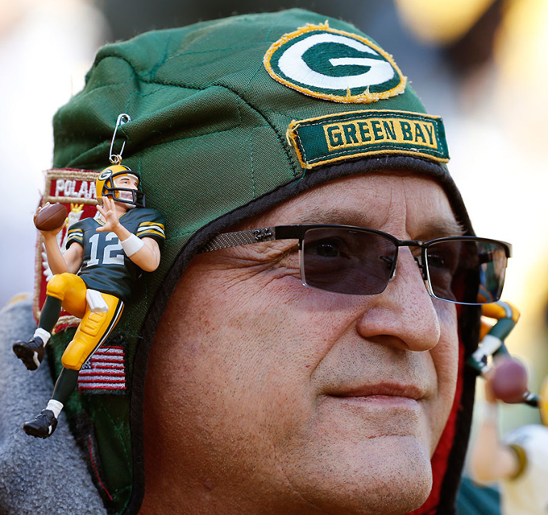 Green Bay Packers fan Bob Borkowski.