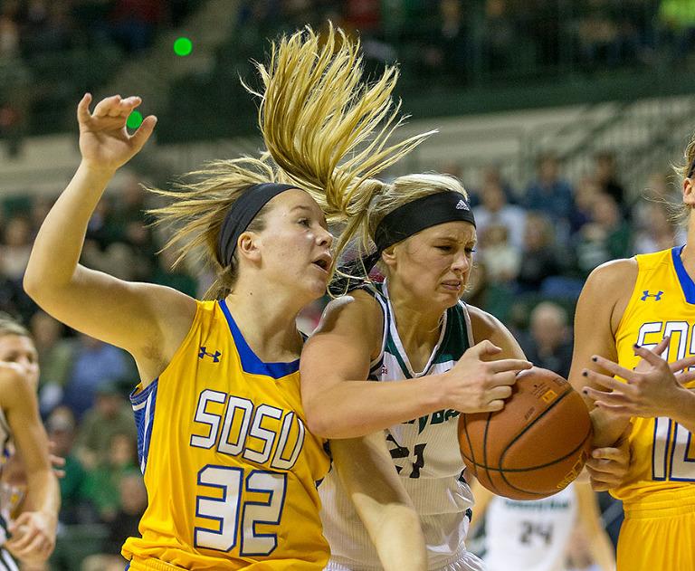 GB WBB vs SDSU 12-19-15. Photo by Mike Roemer