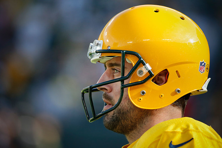 Green Bay Packers quarterback Aaron Rodgers before the game.