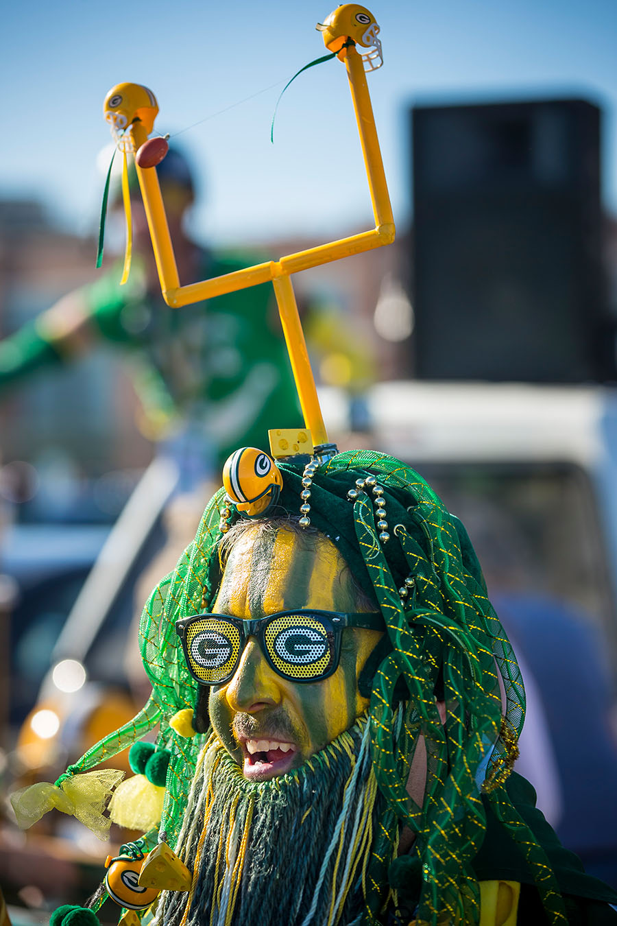 Rob Roskom before an NFL football game Sunday, Nov. 6, 2016, in Green Bay, Wis. (AP Photo/Mike Roemer)