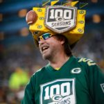 Packers fan Jeff Kahlow celebrates the start of the teams 100th season.