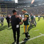 33 Aaron Rodgers Shakes Zimmers hand