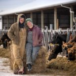 Chaz and Megan Self at their farm near East Troy, Wisconsin.