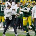 13 Packers Jimmy Graham celberates Matt LeFleur
