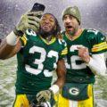 22 Aaron Jones Aaron Rodgers Packers