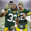 22 Aaron Jones Aaron Rodgers Packers