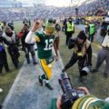 023 Green Bay Packers Aaron Rodgers celebration