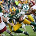 21 Redskins sack Packers Aaron Rodgers