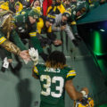 18 Aaron Jones Celeberation tunnel